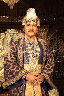 Shahbaz Khan as Akbar at the launch of COLORS' Dastaan-E-Mohobbat Salim Anarkali