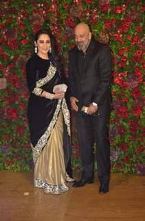 Sanjay Dutt and Manyata Dutt at Ranveer Deepika Wedding Reception Mumbai