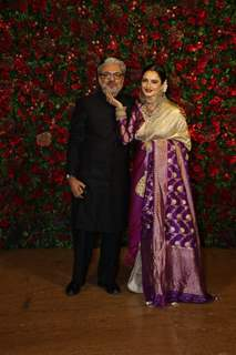 Rekha and Sanjay Leela Bhansali at Ranveer Deepika Wedding Reception Mumbai