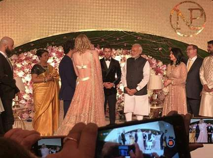 Prime Minister Narendra Modi at Priyanka and Nick's Wedding Reception, Delhi