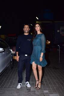 Abhishek Kapoor with his wife at the screening of film 'Kedarnath'