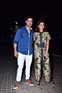 Kirti Kulhari and Mohit Raina at the screening of film 'Kedarnath'