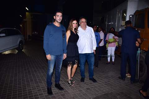 Suzanne khan and Zayed Khan at the screening of film 'Kedarnath'