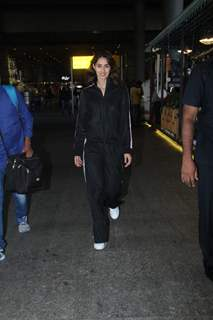 Disha Patani snapped at Mumbai Airport
