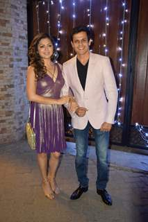 Drashti Dhami with husband at Additi Gupta and Kabir Chopra cocktail Party