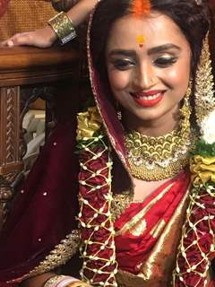 Parul Chauhan with sindoor on head wedding picture