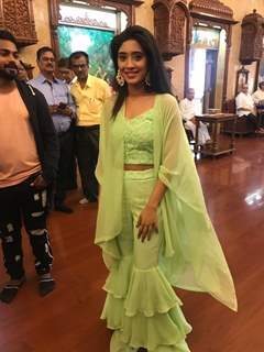 Shivangi Joshi at Parul Chauhan and Chirag wedding