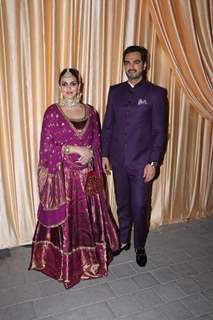 Esha Deol With Husband Bharat Takhtani for Isha Ambani and Anand Piramal Reception