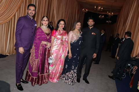 Hema Malini With Daughters Esha And Ahana Deol for Isha Ambani and Anand Piramal Reception