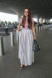 Gauhar Khan Snapped at Airport