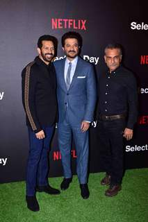 Anil Kapoor with Kabir Khan and Pavan Malhotra snapped at  Netflix's screening of Selection Day