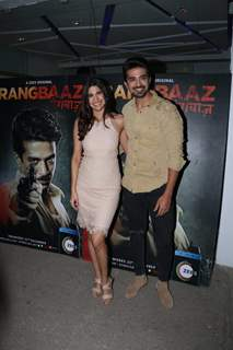 Aahana Kumra and Saqib Saleem at Rangbaaz Screening