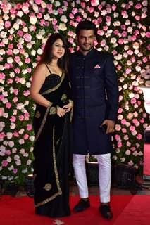 Sharad Kelkar and wife Kirthi Reddy at Kapil Sharma and Ginni Chatrath's Reception, Mumbai