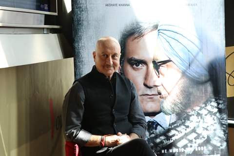 Anupam Kher at The Accidental Prime Minister trailer launch