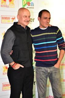 Anupam Kher and Akshaye Khanna at The Accidental Prime Minister trailer launch