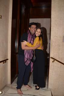 Manish Malhotra and Nushrat Bharucha at Manish Malhotra's house party