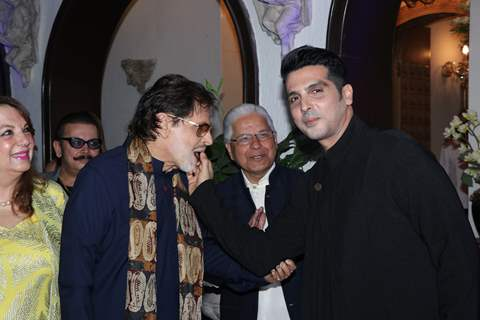 Sanjay Khan with his son Zayed Khan at his 78th Birthday bash