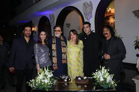 Sanjay Khan with his family at his 78th Birthday bash