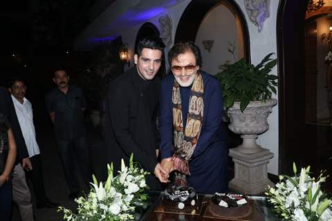 Sanjay Khan and Zayed Khan at his 78th Birthday bash