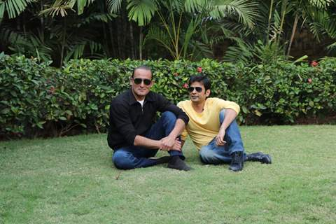 Akshaye Khanna with Director Vijay Gutte at The Accidental Prime Minister Promotions