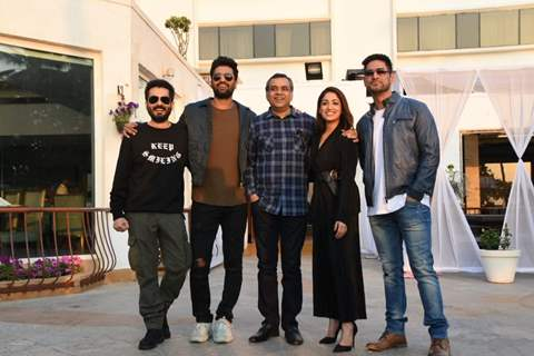 Aditya Dhar, Vicky Kaushal, Paresh Rawal, Yami Gautam and Mohit Raina at URI promotions
