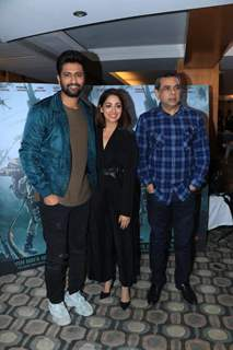 Vicky Kaushal, Yami Gautam and Paresh Rawal at URI promotions