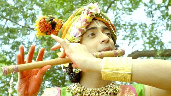 Sumedh as Krishna playing flute
