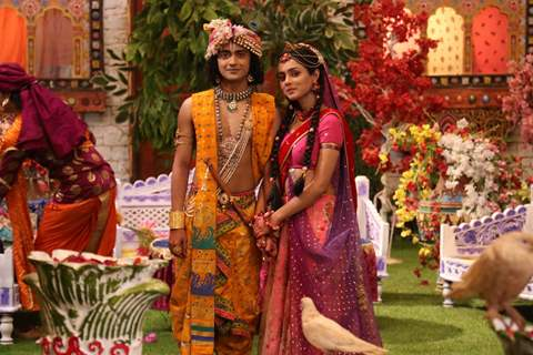 Sumedh and Mallika from RadhaKrishn