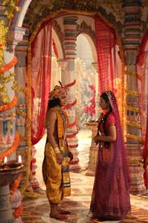Krishna talking to Radha from RadhaKrishn