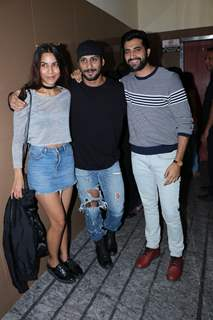 Akshay Oberoi and Prateik Babbar at 'Bombairiya' screening