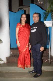 Paresh Rawal at wife celebrate URI's success