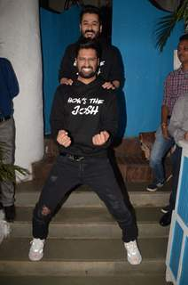 Vicky Kaushal with director Aditya Dhar celebrate URI's success