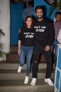 Vicky Kaushal and Yami Gautam celebrate URI's success