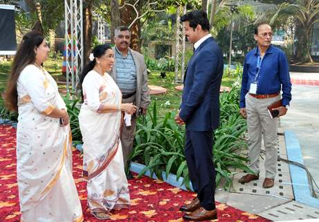 Asha Bhosle snapped at The National Museum of Indian Cinema