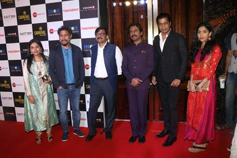 Nawazuddin Siddiqui and Shoojit Sircar spotted at Thackeray movie screening