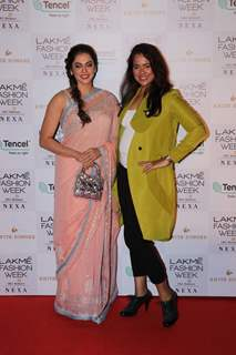 Sameera Reddy and Eesha Kopikar at Lakme Fashion Week Day 2