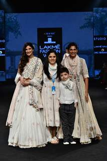 Aahana Kumra and Kubra Sait walk the ramp for fashion designers at 'Lakme Fashion Week'