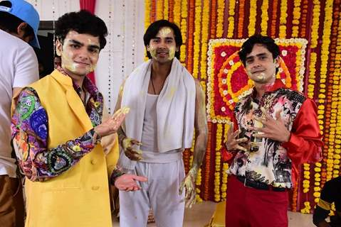 Sameer, Munna and Pandit still from Sameer's Haldi Ceremony