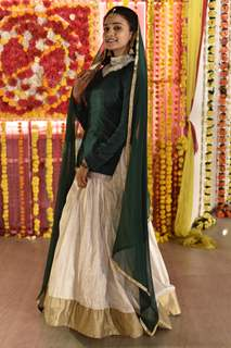 Ashi Singh aka Naina at Sangeet ceremony of Sameer and Naina from Yeh Un Dinon Ki Baat Hai
