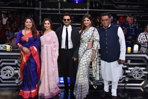 Anil and Madhuri at promotions of Total Dhamaal