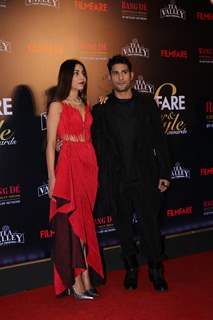 Prateik Babbar with wife attend Filmfare Awards