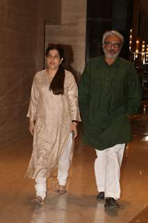 Bollywood celebrity Sanjay Leela Bhansali at Vikram Phadnis mother's prayer meet