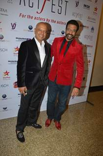 Naved and Javed Jaffery snapped at CINTAA Act Fest