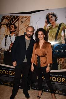 Ritesh Batra and Sanya Malhota pose for a picture at promotions of Photograph