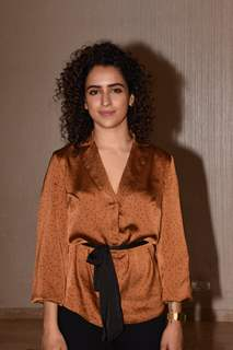 Bollywood diva Sanya Malhotra snapped during the promotions of her upcoming film