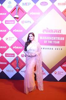 Zareen Khan snapped at Lokmat Awards