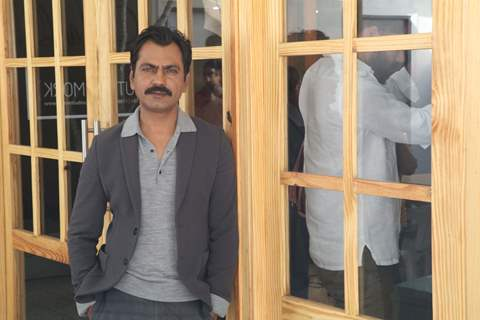 Bollywood actor Nawazuddin Siddiqui at the promotion of Photograph