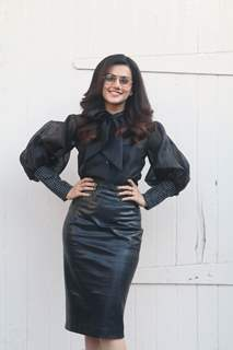Bollywood diva Taapsee Pannu at the promotions of Badla