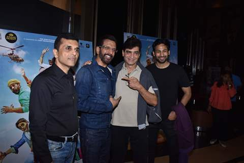 Indra Kumar and Javed Jaffrey at the special screening of Total Dhamaal