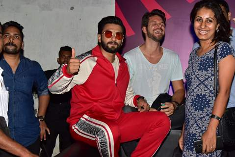 B-town actor Ranveer Singh makes a special apperance for fans